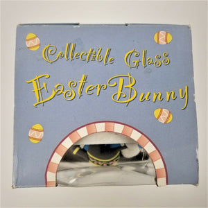 Gardener Collectible Glass Easter Bunny-Flower Bed w/Watering Pot-Original Box