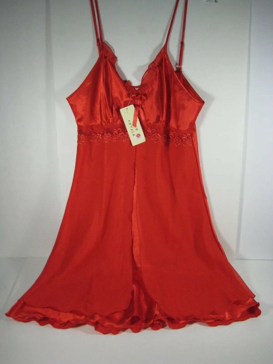 Sexy RED Negligee pre purshased-never wore, Asian Xl. US MEDIUM-Satin feel