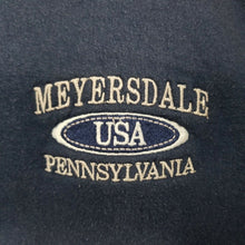 "Hanes Sweatshirt w/ ""Meyersdale Pennsylvania USA"" Embroidery - Navy Blue - L"