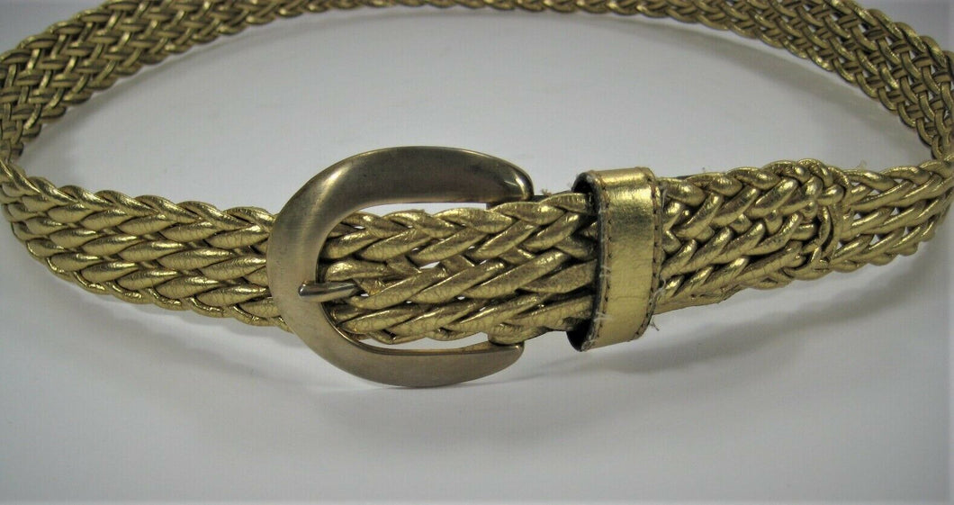 Gold Weave Belt - Fits up to 32