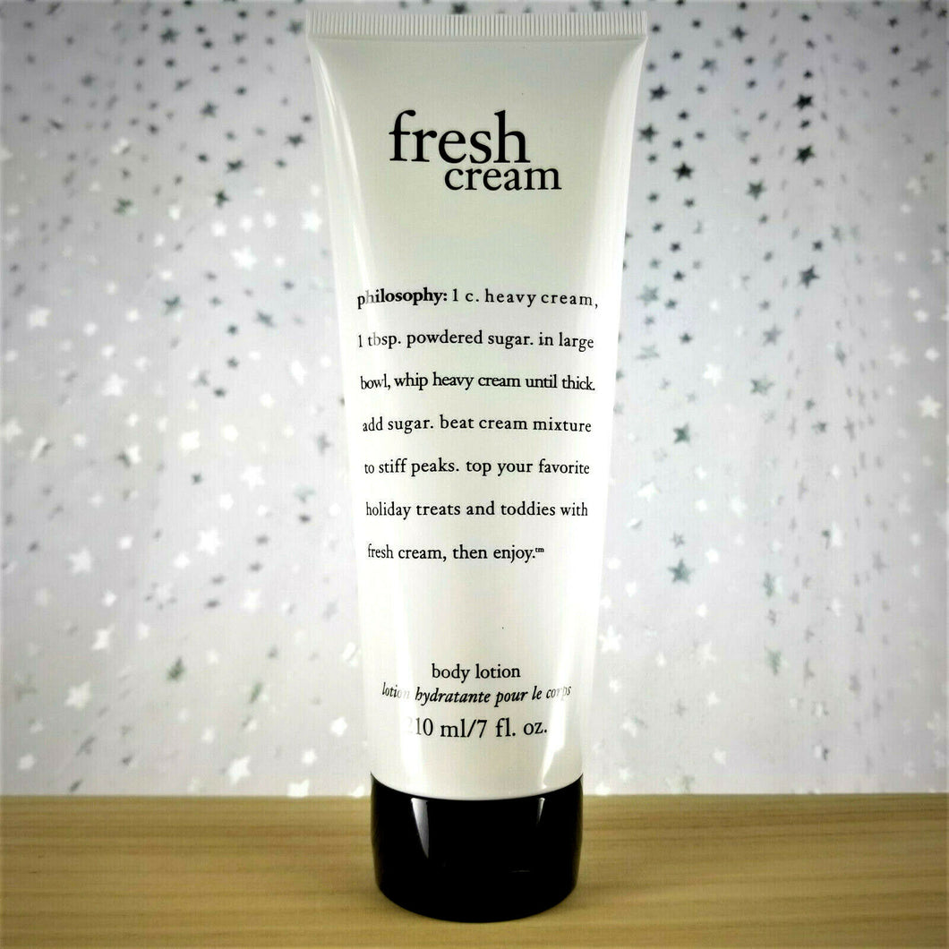 Philosophy Fresh Cream Body Lotion for Women - 7 Fl Oz - NEW & SEALED (No Box)