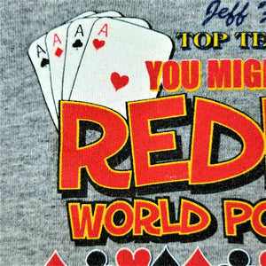 Jeff Foxworthy Original Redneck Wear REDNECK WORLD POKER TOUR T-Shirt -XXL -Gray