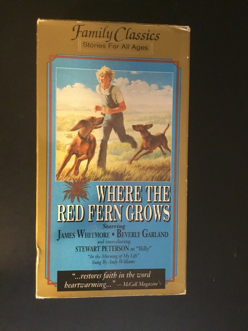 Where the Red Fern Grows (VHS, 1997)