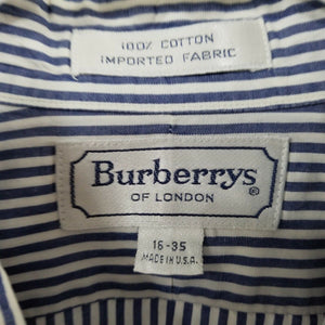 BURBERRY LONDON Long Sleeve Button Down Shirt MEN'S Size 16R Striped