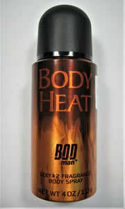 Bod Man Body Heat Sexy Spray By Parfums De Coeur 4oz/113g Fragrance