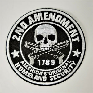 "Embroidered Patch 2nd Amendment 1789 America's Original Homeland Security 4"" Dia"
