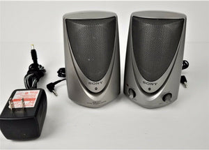 SONY SRS-A27 Desktop Personal Speakers w/2-Way Power Supply