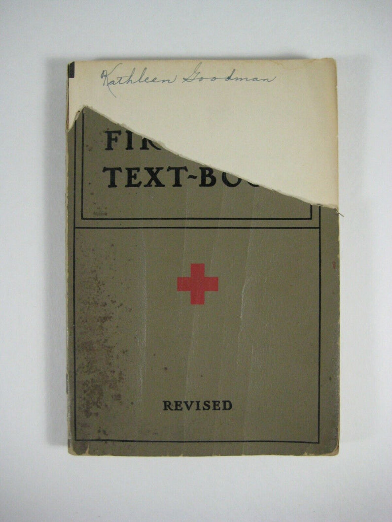 VINTAGE 1933 AMERICAN RED CROSS FIRST AID TEXTBOOK