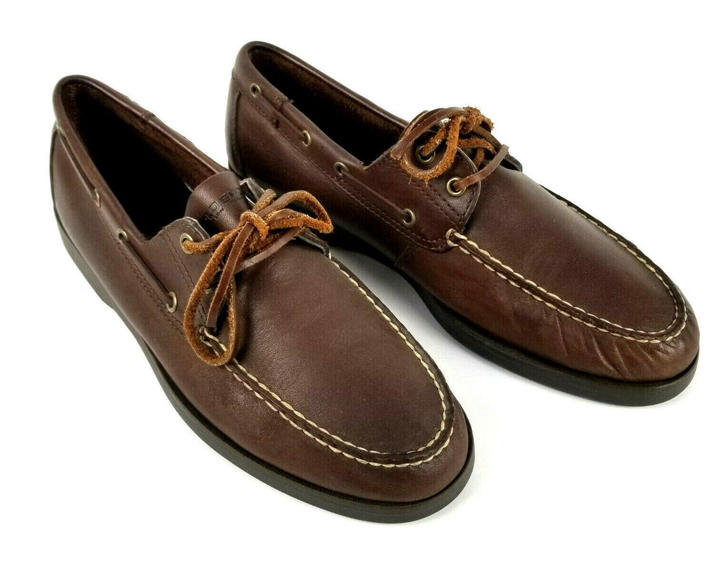 Ralph Lauren Polo Sport Deck Shoes Oxford Loafer Brown Leather Sz 11 D