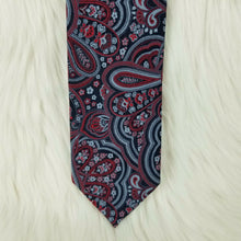 STAFFORD Necktie 100% Polyester-Classic Paisley Pattern in Black Red & Gray-58""