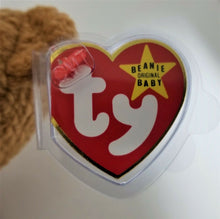 "Vintage Original TY Beanie Baby-Curly Bear-Brown 8.75""-NWT & Plastic. (2)"