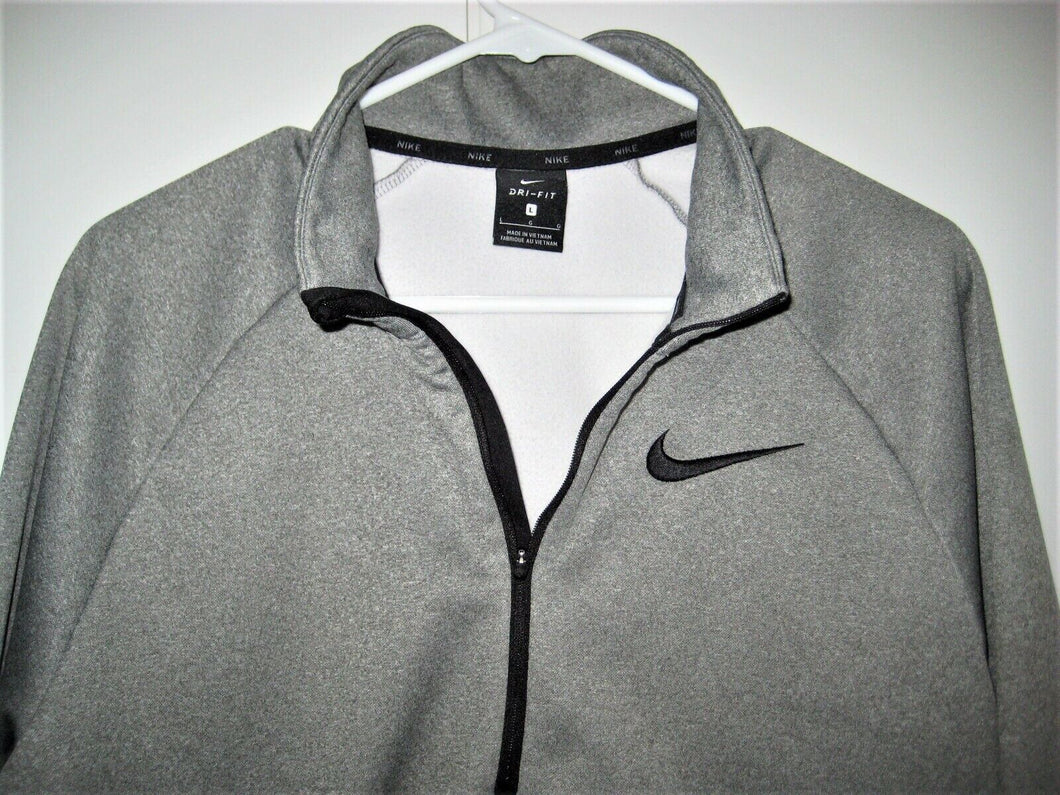 NIKE Dri-Fit Pullover Jacket-Gray-Large