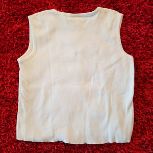 Tia Womens Sleeveless Knit Top w/Embroidered Cards - XL- Go Play B/J Like A Pro.