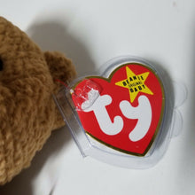 "Vintage Original TY Beanie Baby-Curly Bear-Brown 8.75""-NWT w/Plastic Cover (4)"
