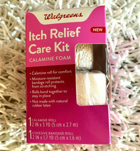 2-Piece Itch Relief Care Kit Calamine Foam-Combination Bandage Kit Exp: 01-2020