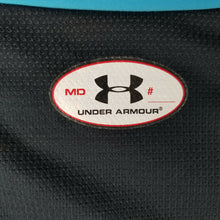 Mens Under Armour Heat Gear Activewear Jersey S/S Shirt M - NFL Combine Turq Blk