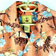 Joe Marlin Mens Hawaiian Style Shirt Button Up - Salmon - Size Large - Excellent