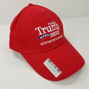 "TRUMP 2020 Hat ""Keep America Great!"" RED - Adjustable Size - NWT"