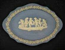Vintage Blue Wedgwood Jasparware Trinket Box - Made In England
