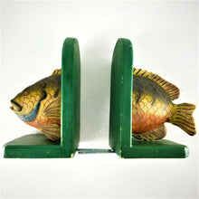 "Vintage Rustic Handmade Wooden Fish Bookends - Good for ""Fish Stories"" - Used"