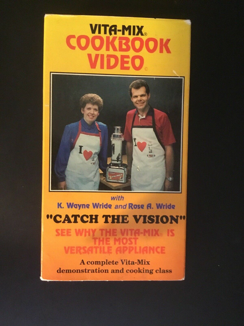Vita-Mix Cookbook Video Catch the Vision Demonstration & Cooking class VHS 1989