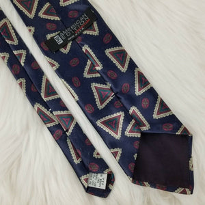 AMERICAN EDITION Necktie Triangles Pattern - 100% Polyester - Blue - 58""