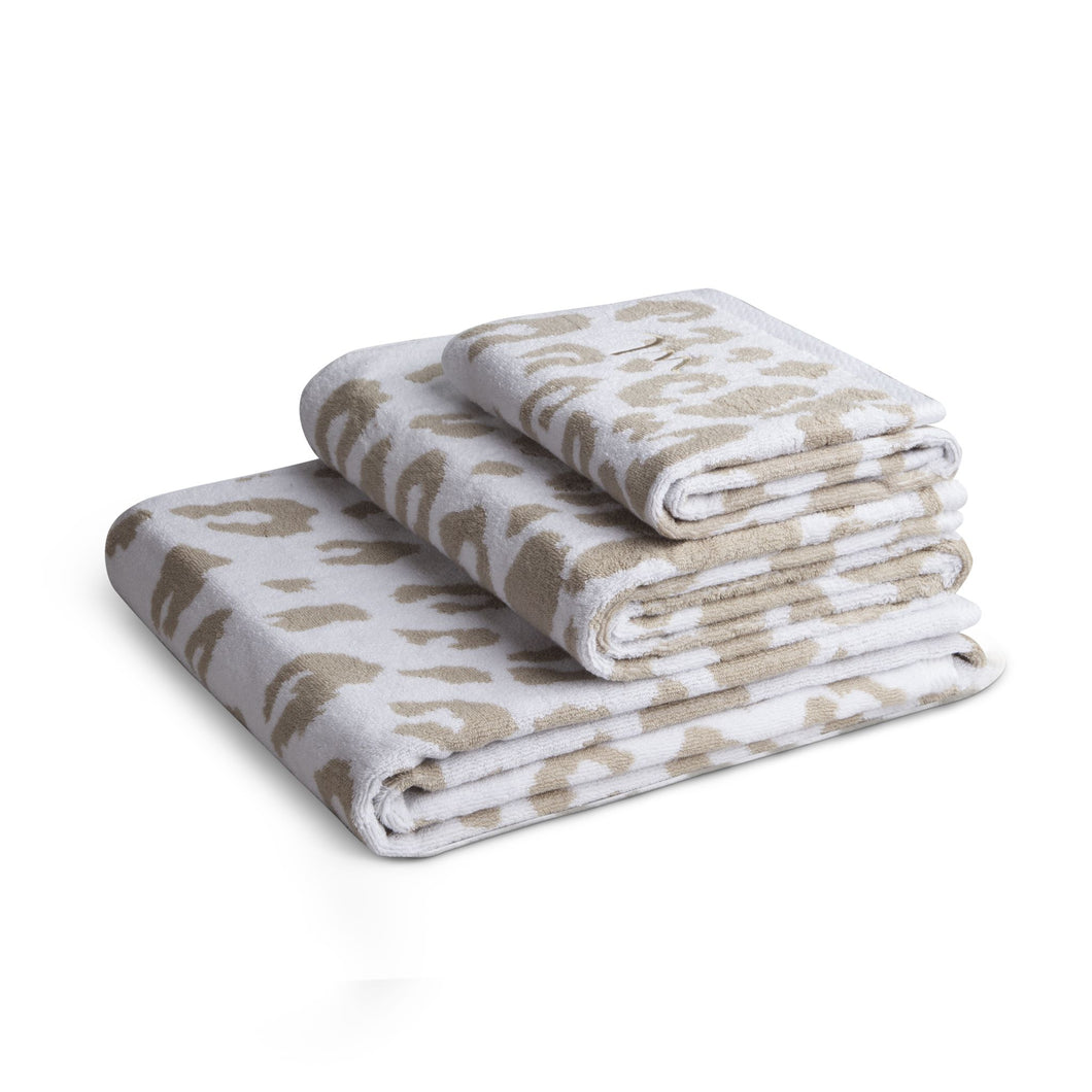 Towel Leopard Light Beige GOTS