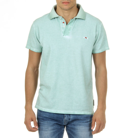 Andrew Charles Mens Polo Short Sleeves Green SIMBA