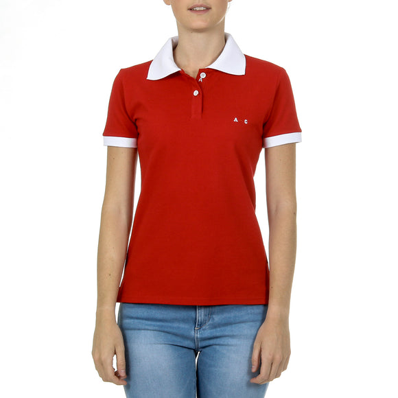 Andrew Charles Womens Polo Short Sleeves Red NIA