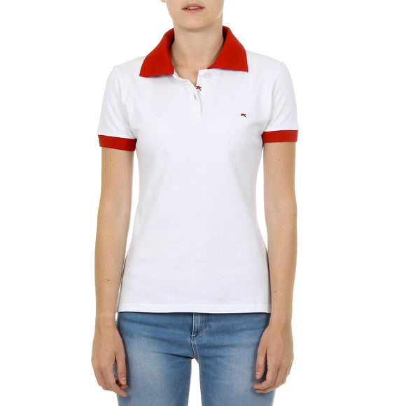 Andrew Charles Womens Polo Short Sleeves White NIA