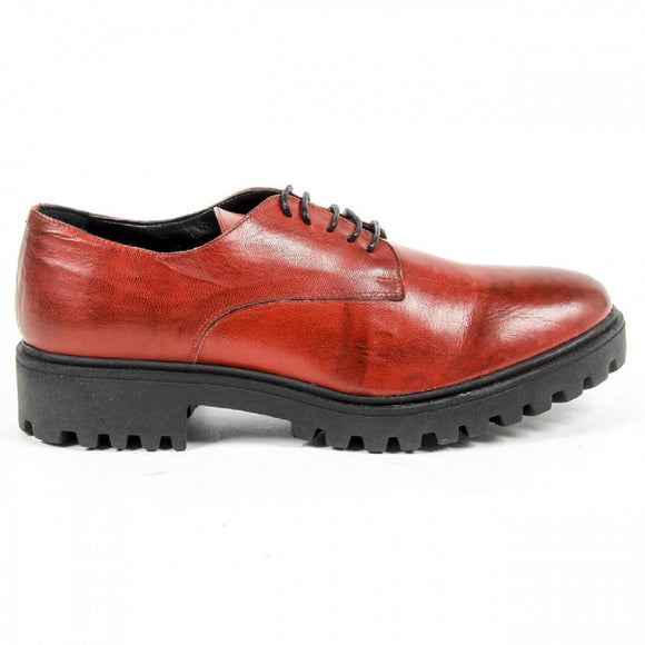 V 1969 Italia Womens Lace Up Shoe C01 VITELLO ROSSO