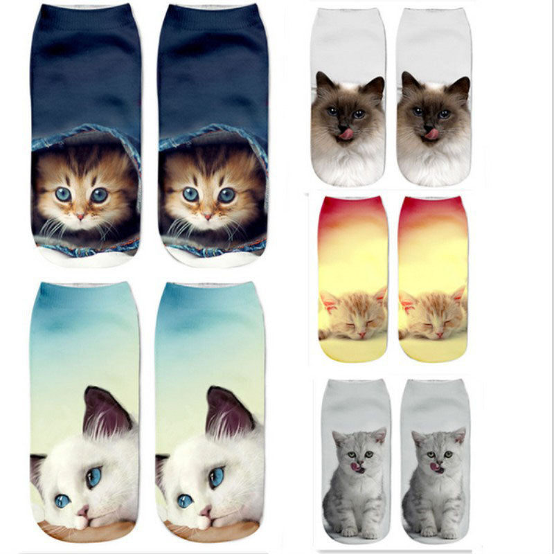 CRAZY CAT ANKLE SOCKS SERIES