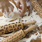 EMBOSSING CAT ROLLING PIN