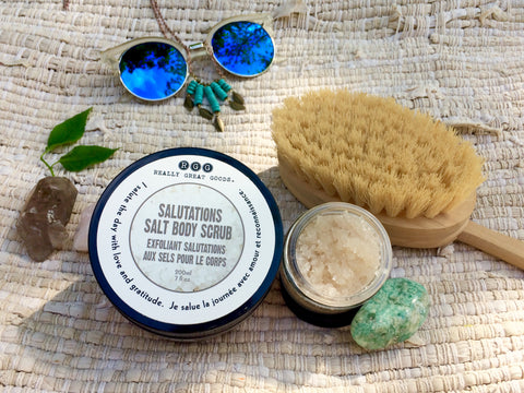 Really Great Goods, Salutations Salt Body Scrub, Summer, Exfoliate, Moisturize
