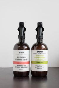 ALL NATURAL CLEANERS from Really Great Goods.  Handmade, Small Batch, Vegan, All Natural Home Care