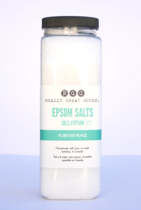 FOREVER PEACE EPSOM SALTS from Really Great Goods.  Handmade, Small Batch, All Natural, Vegan Bath and Body Care