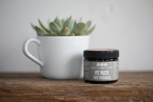 pit paste with succulent plant in mug on wooden surface, pit paste by Really Great Goods