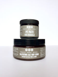 pit paste and salt scrub by Really Great Goods