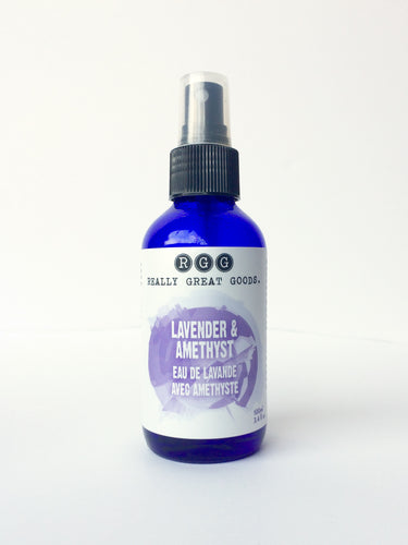 Organic Lavender Face Mist from Really Great Goods.  Handmade, High Vibration, Small Batch, All Natural, Vegan Bath and Body Care