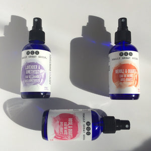 Lavender, Rose and Neroli Organic Face Mists from Really Great Goods