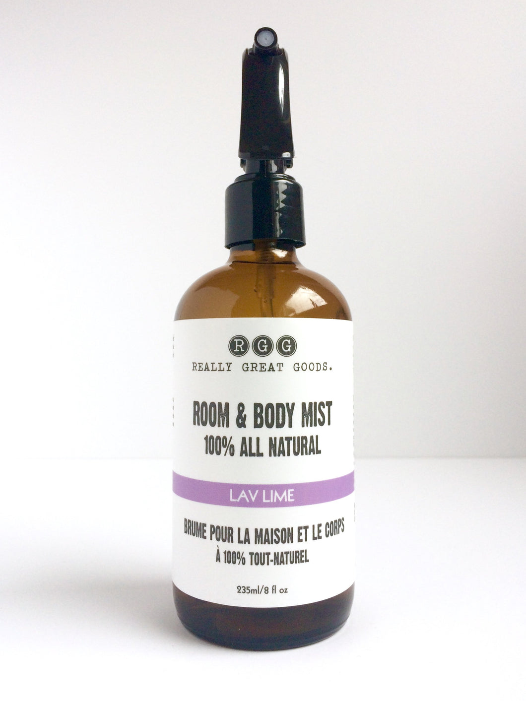 Lav Lime Organic Room & Body Mist from Really Great Goods.  Handmade, Small Batch, All Natural, Vegan Bath and Body Care