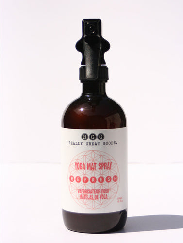 REFRESH YOGA MAT SPRAY from Really Great Goods.  Handmade, Small Batch, Vegan, All Natural Home Care
