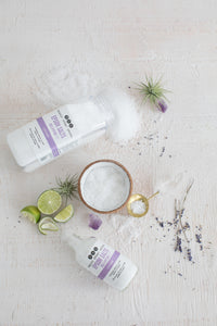 LAV LIME EPSOM SALTS from Really Great Goods.  Handmade, Small Batch, All Natural, Vegan Bath and Body Care