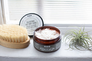 SALUTATIONS SALT BODY SCRUB from Really Great Goods.  Handmade, Small Batch, All Natural, Vegan Bath and Body Care