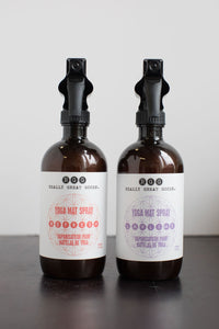 ALL NATURAL YOGA MAT SPRAYS from Really Great Goods.  Handmade, Small Batch, Vegan, All Natural Home Care