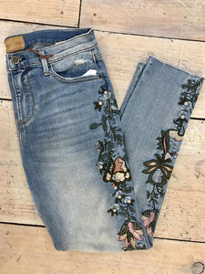 Embroidered Cut Off Skinny by Driftwood