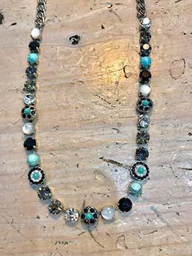 Genuine Swarovski Crystal and Turquoise Necklace