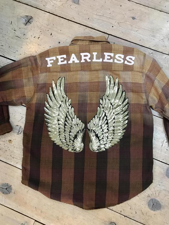 Fearless Flannel by ReLove in Tan