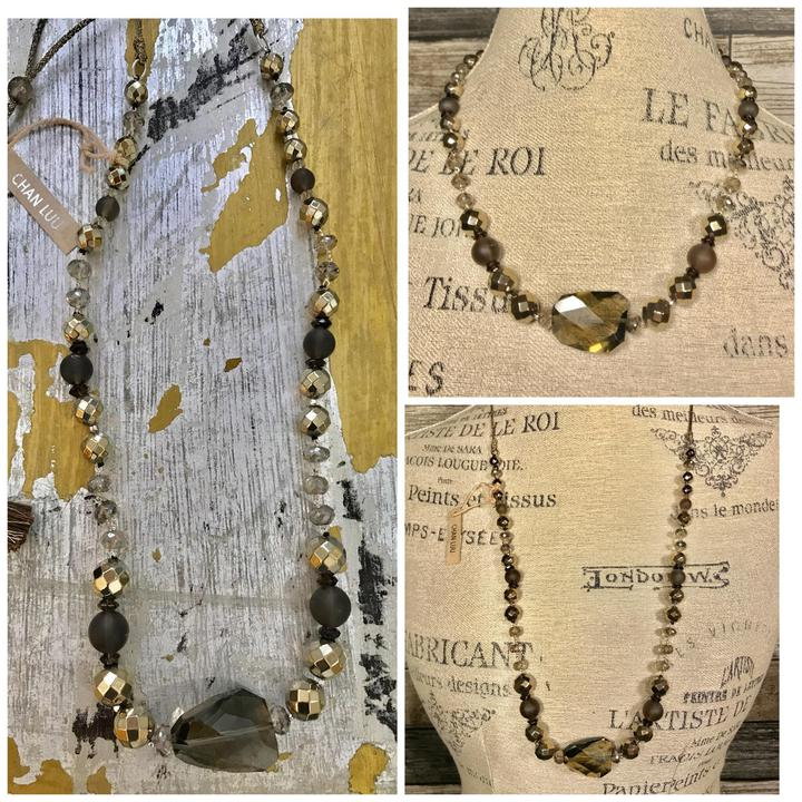 Chan Luu Smokey Quartz necklace