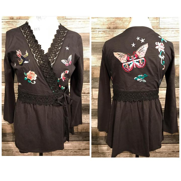 Odd Molly Butterfly Wrap Top